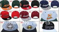 20 pcs/lots Adjustableb snapback cap,NCAA Snapback hat, Baseball Hats / Caps,ems free shipping!!!