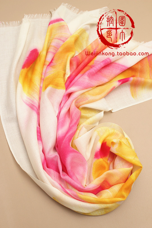 Women's pure wool scarf elegant air conditioning large cape dual-use ultra long(China (Mainland))