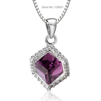 Wholesale&Retail Fashion 925 Sterling Silver Jewelry CZ  stones women necklace pendants free shipping D312322