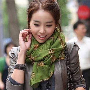 Small zebra scarf fluid women's muffler scarf bali yarn long cape(China (Mainland))