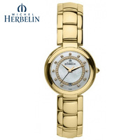 Herbelin classic gold plated steel ladies watch ladies watch 14263 bp79