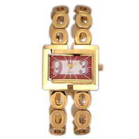 B & l women's watch cutout bangles bracelet quartz watch gold plated the trend of fashion ladies watch