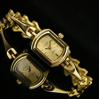 Quartz gold plated bracelet watch unique personalized watchband capitales women's watch
