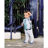 2013 baby Boys3pcs suits(Long-sleeved coat +long-sleeved T-shirt +trousers) kids sport clothing children clothes sets 5sets/lot