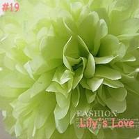 "50pcs 10cm/4"" Pom Poms Ball-Tissue Paper Pom Poms Flower Weddings, Woodland, Modern Vintage, Decorations #19"