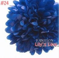 "50pcs 10cm/4"" Pom Poms Ball-Tissue Paper Pom Poms Flower Weddings, Woodland, Modern Vintage, Decorations #24"