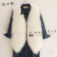 2014 winter coat long design  fur vest Women's Clothing