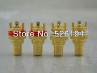 Free shipping HIGH PERFOMACNE GOLD PLATE RCA FEMALE CONNECTOR CHASSIS