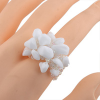Min order is US 8 (mix order)New Arrival Fashion popular Natural stone Ring,women Rhinestones  Rings(free shipping)