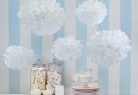"50pcs 10cm/4"" Pom Poms Ball-Tissue Paper Pom Poms Flower Weddings, Woodland, Modern Vintage, Decorations #15"