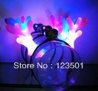 Shiping Free Retail&Wholesale headband with light headwear Antlers Dragon Horn Flashing LED party supplies Christmas gift
