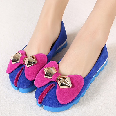Flats 2013 spring and summer fashion unique genuine leather feet comfortable casual all-match shallow mouth shoes(China (Mainland))