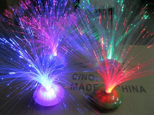 Colorful glossy 86 optical fiber flower small night light mantianxing home decoration gift hot-selling(China (Mainland))