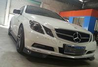 fit for Mercedes Benz E-CLASS COUPE C207 front spoiler splitter lip real carbon fiber