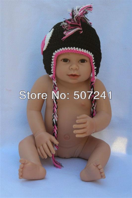 Cute Gorgeous Baby Child Indian Black Grey Angle Crochet Cotton Hat Beanie Newborn To 3 Year Handmade Photo Prop Free Shipping(China (Mainland))