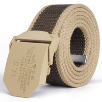 2013 knitted canvas strap male automatic buckle canvas belt lengthen thickening belt