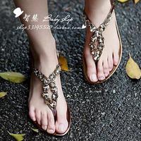 2013 sandals flat heel women casual sandals flat casual sandals female shoes