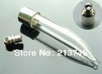 Free ship 100pcs/lot M1 name on rice art glass vial pendant mini glass bottle pendant screw cap wish bottle necklace pendant