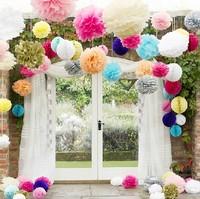80Pcs 10inch/25cm 27 Colors Choose Free Shipping Tissue Paper Pom Poms Wedding Party Decor Craft festival decoration Wholesale