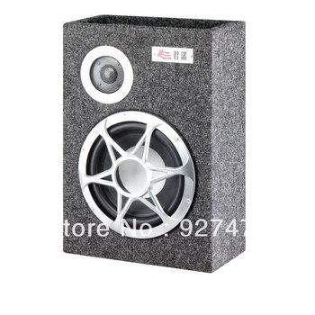 Junnuo 8-inch subwoofer power card inserted U disk thin square car subwoofer car 12V 24V