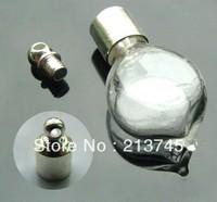 Free ship 100pcs/lot seals M16 rings glass vial pendant screw cap wish bottle pendant perfume bottle essential oil bottle