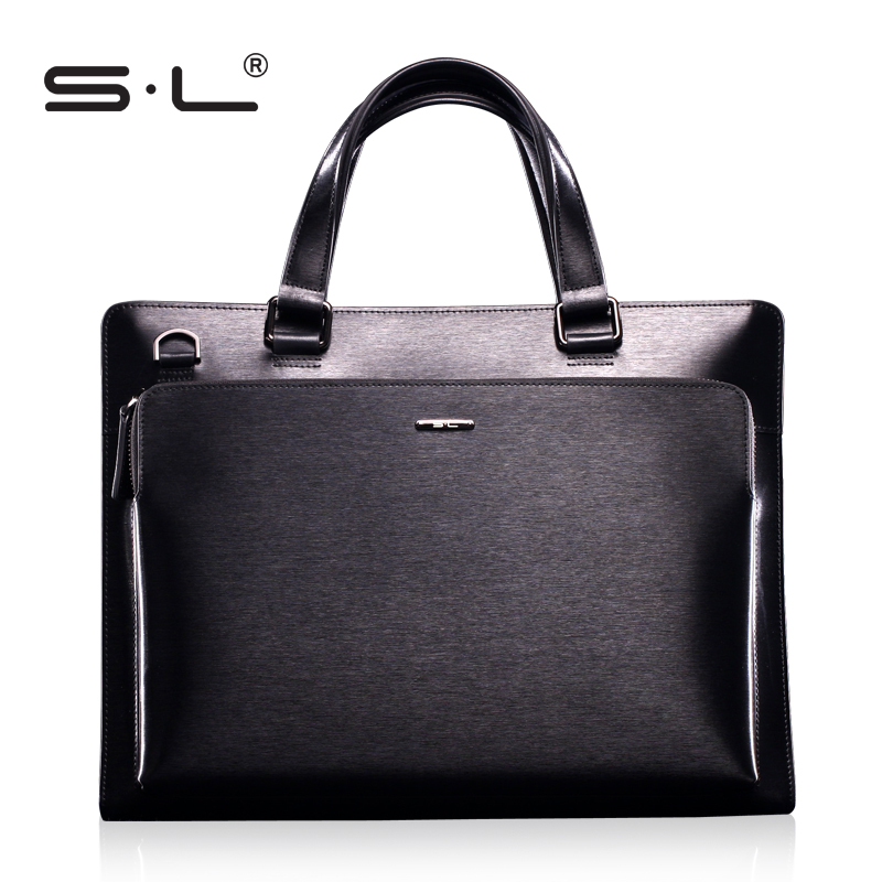 Sl high quality high quality commercial handbag male cowhide computer handbag briefcase(China (Mainland))