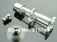 Free ship 100pcs/lot seals M4 glass vial pendant screw cap wish bottle pendant perfume bottle essential oil bottle