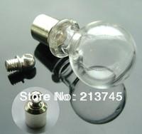 Free ship 300pcs/lot M6 rice art jewelry glass vial pendant mini glass bottle pendant screw cap wish pefume bottle pendant