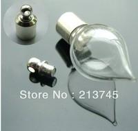 Free ship 100pcs/lot seals M12 glass vial pendant screw cap wish bottle pendant perfume bottle essential oil bottle