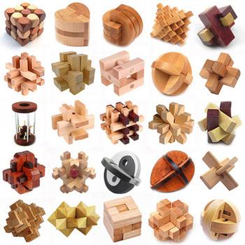 wooden educational puzzle,magic cube,Kongming Lock,educational toys