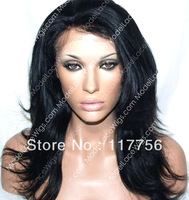 New premium Japanese heat resistant fiber fashion straight synthetic front lace wig