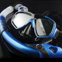 Myopia submersible mirror pure silica gel submersible mirror full dry breathing tube snorkel mirror face mask snorkel triratna