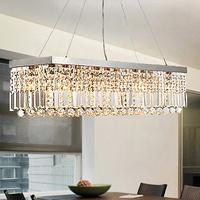 Bar crystal restaurant lamp modern fashion rectangle brief living room light free shopping