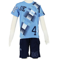 Hot selling Fashion 2014 Boy clothing set with t shirt and short pants size 6-14 Free Shipping 2550K1