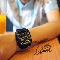2014 New Men Sports Watch Vintage Genuine Cow leather wrist watch Women Dress Watches Fashion Quartz Watch