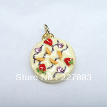 free shipping 8011 new peach fruit cake charm pendant jewelry accessories