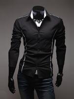 2013 man new slim fit shirts,striped lining men slim casual shirts,male long-sleeved shirt, personable mens clothing/menswear