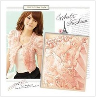 2013 summer rose lover woman pearl short-sleeve outerwear capelet Jacket--Free Shipping FZ6001