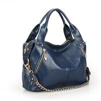 2013 fashion vintage cowhide chain bag portable one shoulder crossbody women's handbag genuine leather women bags /free shipping