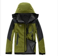 Famous Brand Men Jacket Outdoor Sportswear Soft shell Microfleece Hoodie Waterproof Outerwear Spring Autumn 7 colors