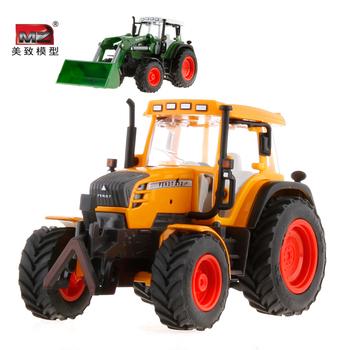 Mz alloy engineering car farmer car music excavator bulldozer car model tractor toy