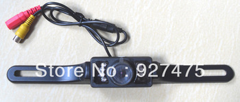 High-definition wide-angle night vision waterproof license plate frame with a ruler car rear view reversing camera