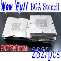 2013 Newest BGA 282/pcs 90*90 BGA stencils templates Notebook  and desktop Substitute 241/PCS bga reballing stencil 90x90