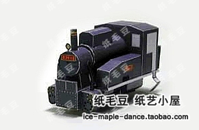 Diy 3d model train steam locomotive b20