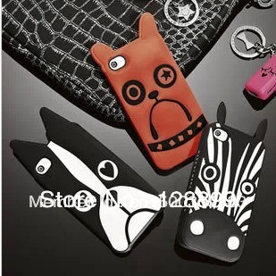 wholesale! Promotion! 3D Marc Animal soft Silicon Case for iPhone 4/4S, gift screen protective film(China (Mainland))