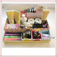 DIY Desk Cosmetic Storage Box Container Bag Case Stuff Organizer Box In Box