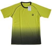 Yinglian men's professional badminton clothes short-sleeve t-shirt summer o-neck yellow