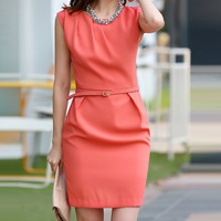 2013 summer new arrival women's slim hip ol sleeveless one-piece dress the trend of the plus size