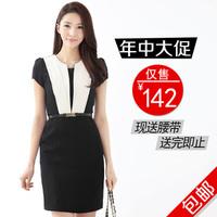 2013 spring one-piece dress women's work wear ol elegant one-piece dress summer work wear fashion patchwork female