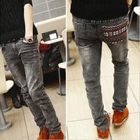 National trend water wash the trend of elastic pants slim skinny pants male k12 p40